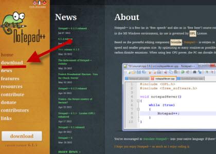 notepd++ бесплатный редактор html и php