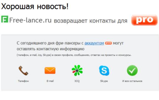 free-lance ru_биржа фриланса_письмо от администрации