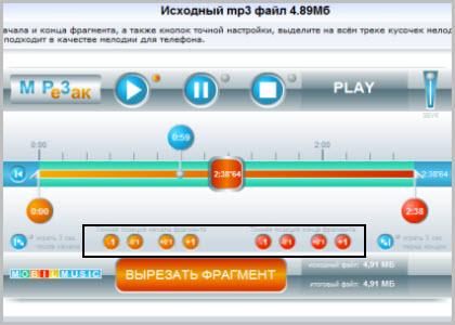 онлайн обрезать песню бесплатно
