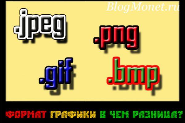 В чем разница между форматами png, gif, jpeg, bmp